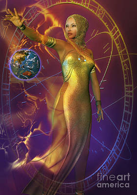Planetary Energy Art Print by Shadowlea Is