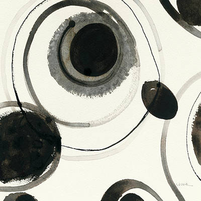 Black Ink Lines Painting - Planetary II by Shirley Novak