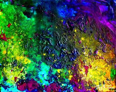 Painting - Planetary Peaks by Jayne Kerr