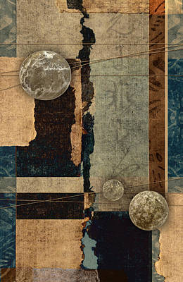 Abstract Montage Photograph - Planetary Shift #2 by Carol Leigh