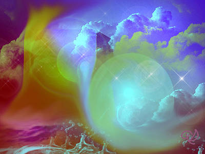 Art Print featuring the digital art Planetary Storm by Ute Posegga-Rudel