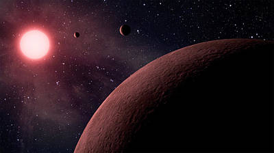 Planetary System Koi-961 Art Print by Movie Poster Prints