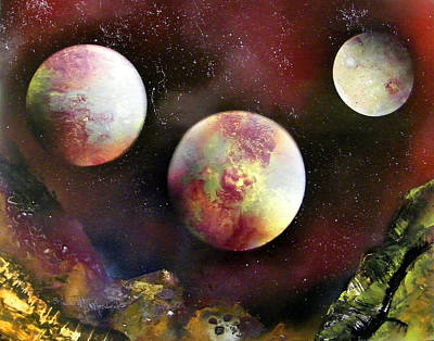 Painting - Planetary Triumvirate by Richard Mordecki