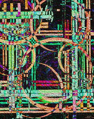 Digital Art - Planetary Weave by Stephanie Grant