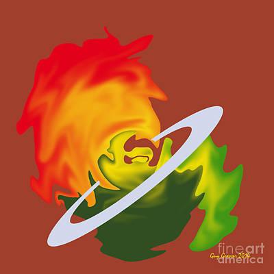 Planete En Formation Print by Guy  GRESSER