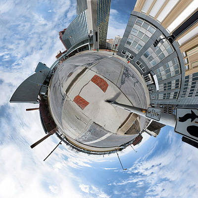 Photograph - Planetoid - Downtown Toledo by Casey Becker
