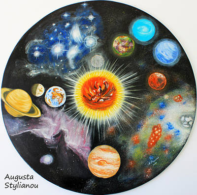 Painting - Planets And Nebulae In A Day by Augusta Stylianou