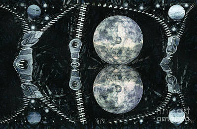 Zipper Painting - Planets And Zip by Odon Czintos