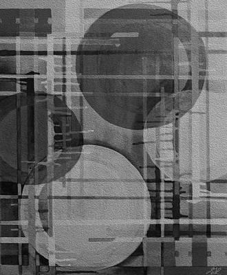 Digital Art - Planets In Grey by Stephanie Grant
