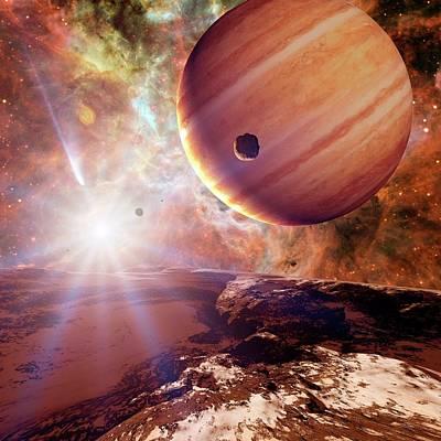 Stellar Photograph - Planets In Ngc 2440 Planetary Nebula by Detlev Van Ravenswaay