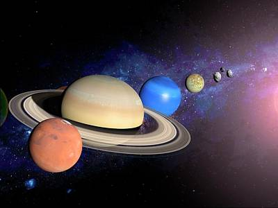 Neptune Wall Art - Photograph - Planets by Ramon Andrade 3dciencia/science Photo Library