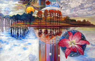 Painting - Planets Rising Over Louisiana by John Lautermilch