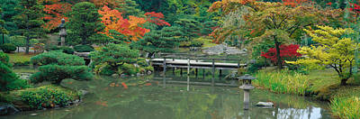 The Pathway Photograph - Plank Bridge, The Japanese Garden by Panoramic Images