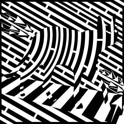 Digital Art - Plank Walking Cat Maze by Yonatan Frimer Maze Artist