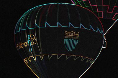 Plano Balloon In Neon Art Print