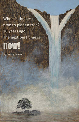 Painting - Plant A Tree by David Clode