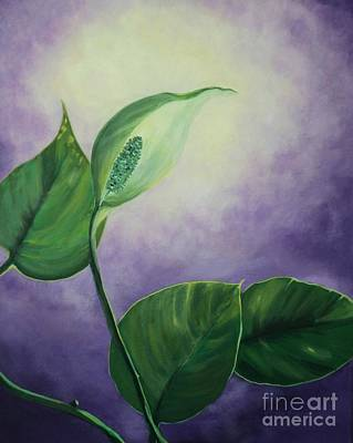 Painting - Plant In The Light by Jesslyn Fraser