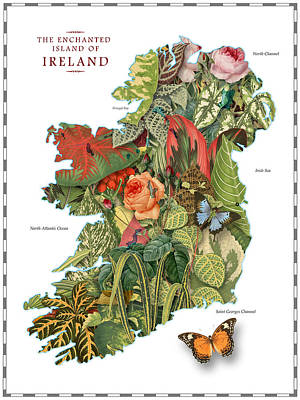 Digital Art - Plant Map Of Ireland by Gary Grayson