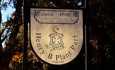 Photograph - Plant Park Since 1891 by David Lee Thompson