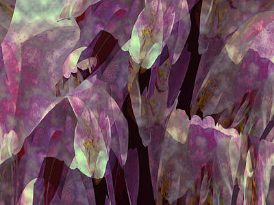 Mixed Media - Plantasia In Magenta And Lime by Lynda Lehmann