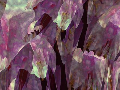 Digital Art - Plantasia In Magenta And Lime by Lynda Lehmann