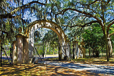 Plantation Gate Art Print