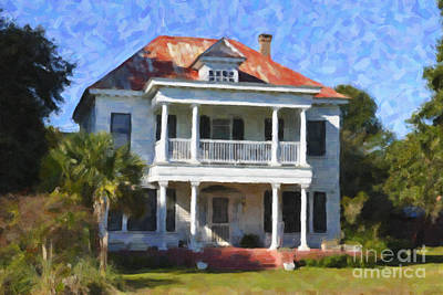 Digital Art - Plantation House In Mccellanville Sc by Dale Powell