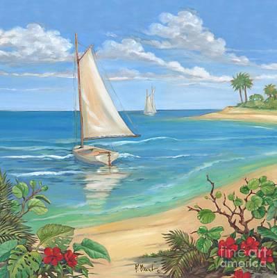 Sailboat Painting - Plantation Key Sailboat by Paul Brent
