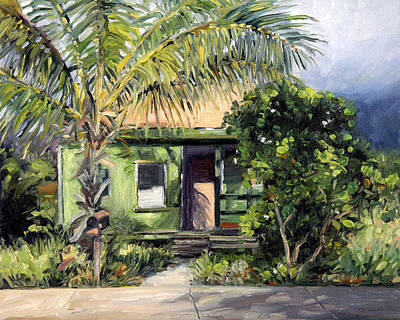 Haleiwa Painting - Plantation Sunset by Stacy Vosberg