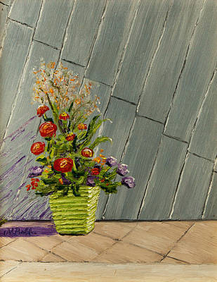 Painting - Planter On A Rooftop In Denver by Margaret Bobb