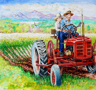 Painting - Planting The Seed by John Lautermilch