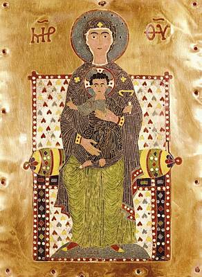Byzantine Empire Photograph - Plaque Depicting An Enthroned Virgin by Everett