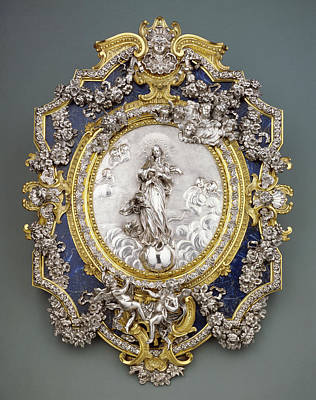 Immaculate Drawing - Plaque Representing The Virgin Of The Immaculate Conception by Litz Collection