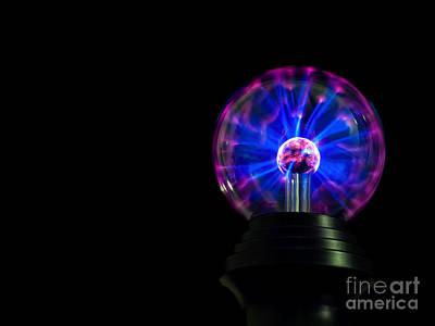 Plasmatron Photograph - Plasma Lamp by Sinisa Botas