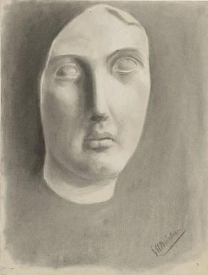 Plaster Mask Drawing - Plaster-mask, George Hendrik Breitner by Quint Lox
