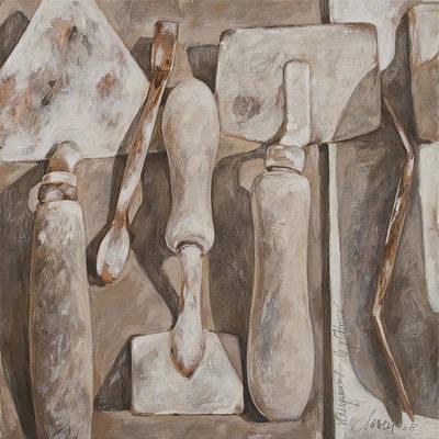 Plasterer's Tools Art Print by Anke Classen