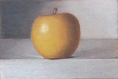 Painterly Drawing - Plastic Apple by Liam Harper