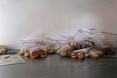 Baked Goods Photograph - Plastic Bags Of Cookies by Romulo Yanes