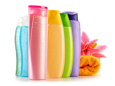 Plastic Bottles Of Body Care And Beauty Products Original by T Monticello