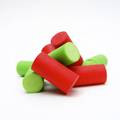 Green Color Photograph - Plastic Corks by Bernard Jaubert