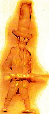 Creepy Mixed Media - Plastic Cowboy by Del Gaizo