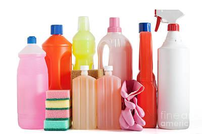 Plastic Detergent Bottles Art Print by Antonio Scarpi