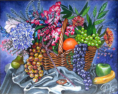 Jimerson Painting - Plastic Fruits And Flowers by Annette Jimerson