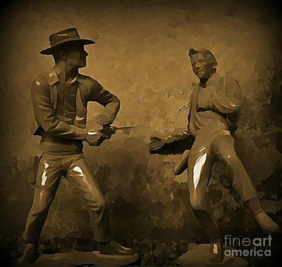 Gunfight Digital Art - Plastic Gunfighters by Hohn Malone