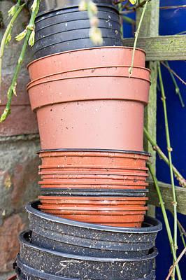 Waste Photograph - Plastic Plant Pots by Tom Gowanlock