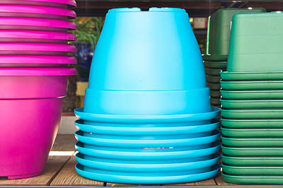 Plastic Pots Art Print by Tom Gowanlock