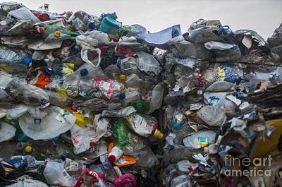 Waste Materials Photograph - Plastic Waste At Recycling Centre by Robert Brook