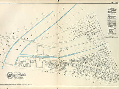 Harlem Drawing - Plate 1 Map No. 441 Bounded By Fourth Avenue by Litz Collection