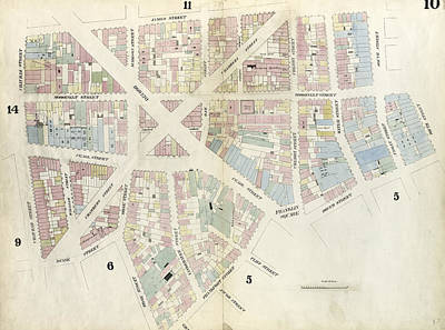 Plate 10 Map Bounded By Chatham Street, James Street, South Art Print