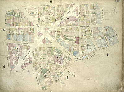 Chatham Drawing - Plate 10 Map Bounded By James Street, South Street, Dover by Litz Collection